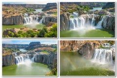 Idaho faller collage arkivbild