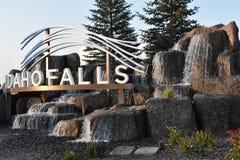 The Idaho Falls city sign. In Idaho Stock Photography