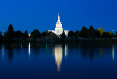 Idaho Falls Temple Stock Photo