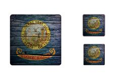 Idaho Flag Buttons Royalty Free Stock Images