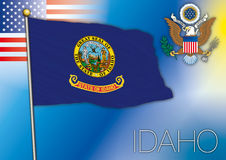 Idaho flag Royalty Free Stock Photos