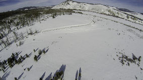 Idaho forest in winter from a helecopter Royalty Free Stock Images