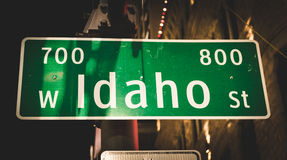 Idaho gatatecken Royaltyfri Fotografi