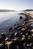 idaho jeziornego oreille pend skalista linii brzegowej zima Zdjęcia Stock