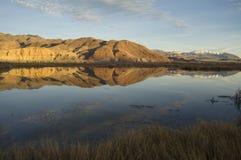 Still Idaho Lake Mountain Reflection Blue Sky  Royalty Free Stock Photos