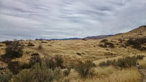 Idaho landscape. Landscape of boise idaho foothills stock photo