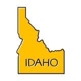 Idaho map illustration. Idaho outline map; Idaho state illustration Stock Photos