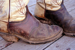 Idaho Mud 4. Muddy Cowboy Boots Stock Image