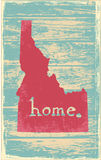 Idaho nostalgic rustic vintage state vector sign. Rustic vintage style U.S. state poster in layered easy-editable vector format Stock Images