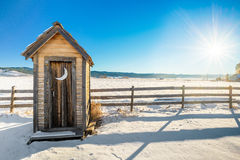 Idaho outhouse in the winter Royalty Free Stock Photography