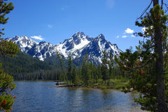 Idaho`s Sawtooth Mountains and Stanley Lake Royalty Free Stock Photo