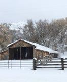 Idaho-Scheune und -hürden lizenzfreie stockfotografie