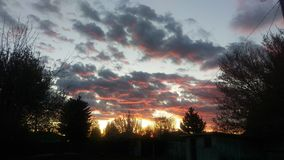 Idaho solnedgångmoln Arkivfoton