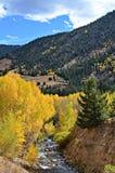 Idaho Springs, Colorado. Gorgeous golden autumn, Idaho Springs, Colorado Stock Photo