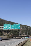 Idaho Springs Exit Signs Stock Image