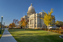 Free Idaho State Caital In The Fall And Sidewalk Royalty Free Stock Photography - 34730317
