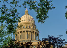 Idaho State capital done with trees and blue sky Stock Images