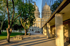 Idaho state capital morning light and reflection Royalty Free Stock Image