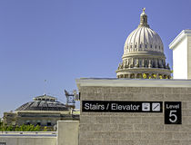 Idaho state capital from new parking garage Stock Images