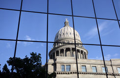 Idaho State Capitol Reflection. Idaho State Capitol Reflecting in the windows of a nearby building Royalty Free Stock Photos