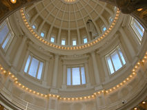 Idaho State Capitol Rotunda. The dome of Idaho's State Capitol building is 208 feet tall and the rotunda features beautiful white marble, columns and skylights Royalty Free Stock Photography