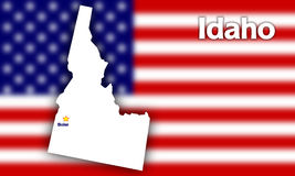 Idaho state contour Royalty Free Stock Photos