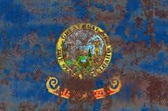 Idaho state grunge flag, United States of America Stock Photo
