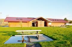 Idaho state rest area pavilion Stock Image