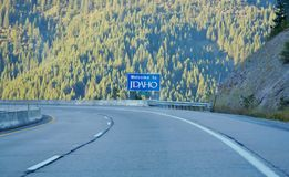 Idaho state steep bend in the road Royalty Free Stock Photography