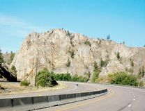 Idaho state steep bend in the road Stock Photography