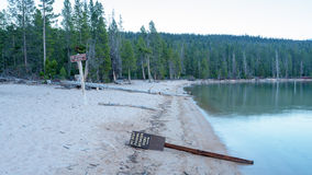 Idaho tecken för sjövarning Royaltyfria Foton