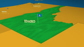 Idaho - United States Series with flags Royalty Free Stock Photography