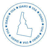 Idaho vector map sticker. Royalty Free Stock Photos