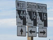 Idaho-Verkehrsschilder Lizenzfreie Stockfotos