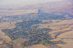 Idaho and Washington Aerial View Royalty Free Stock Photos