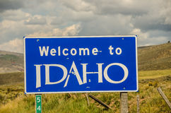 Idaho Welcome Sign Stock Images