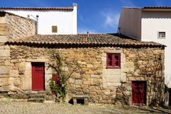 Old traditional house in the historic village of Idanha a Velha in Portugal stock photo