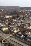 Idar-Oberstein με μια πανοραμική θέα στοκ εικόνα