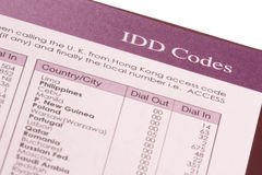 IDD Codes Royalty Free Stock Photos