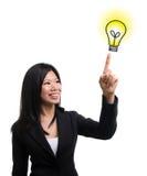 Idée d'ampoule Photographie stock libre de droits