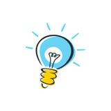 Idée d'ampoule Photo libre de droits