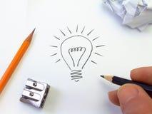 Idée lumineuse Images libres de droits