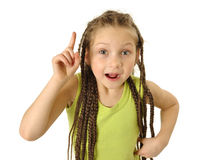 Idea. Little girl have an idea Stock Image