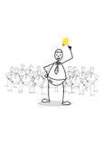 Idea. Cartoon  Man  on white background Stock Images