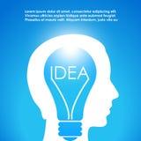 Idea. New idea vector clip art card Stock Photos