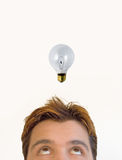 The idea!. Man having an idea Stock Images