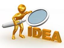 Idea. 3d Royalty Free Stock Photos
