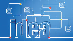 Idea Abstract Text Royalty Free Stock Photography