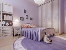 Idea acogedora del dormitorio del art déco Imagen de archivo