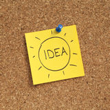 Idea Adhesive Note Royalty Free Stock Images